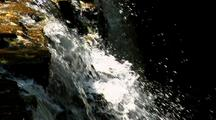 Sun-Drenched Section Of Vermillion Falls