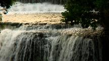 Vermillion Falls Revealed From Bottom Up