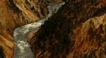 Tilt Shot Reveals Lower Falls Yellowstone National Park