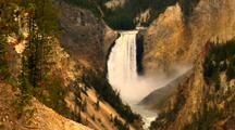 308-foot high Lower Falls Yellowstone National Park