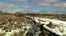 Jackson Hole Valley Revealed From Least Chipmunk On Buck-And-Rail Fence