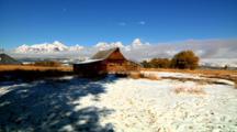 Historic Mormon Row Barn In Grand Teton National Park