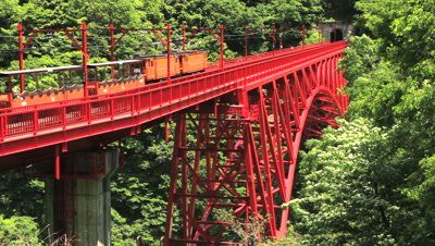 close up,Sagano Scenic Railway Bridge,Toyama Prefecture,Japan