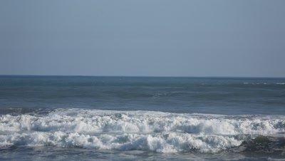 Waves at the beach in Hamamatsu,Shizuoka Prefecture,Japan