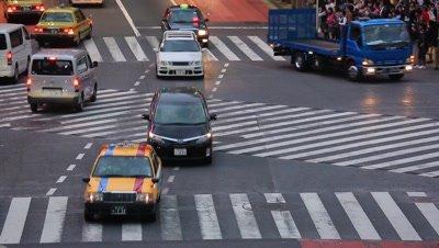 Shibuya scramble crossing,Tokyo,Japan