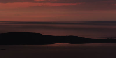 Dawn view from Mount Cadillac, Acadia National Park, Maine