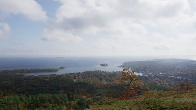 Time-lapse Fall view of Camden, Maine from Camden Hills State Park