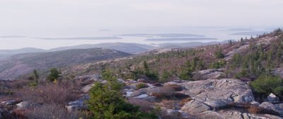 Overlook View of Coast from Cadillac Mountain