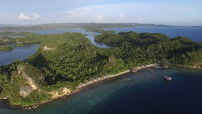 View from high above of Pulau Pef in Raja Ampat