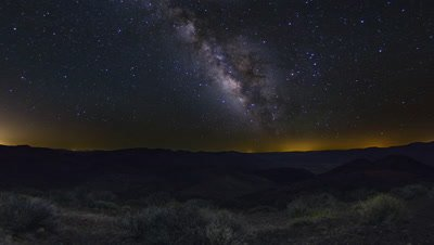A beautiful night sky milky way shot captured at Dantes View, Death Valley National Park in California