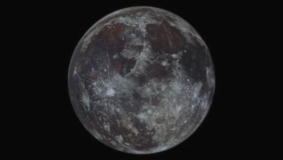 Simulation of orbiting around the moon; created from a high resolution full moon photo