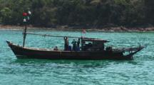 Burmese Fishing Boat At Mergui Archipelago, Myanmar