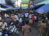 Busy Street In Kaw Thaung, Myanmar