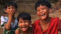 Laughing Burmese Children