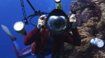 Underwater Photographer Makes Fun Then Takes Photograph Of Videographer