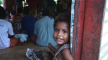 Fijian Girl At Navatu Village