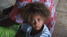 Fijian Girl At Raviravi Village In Fiji