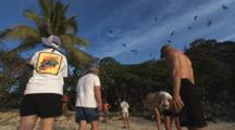 Tourists Watch Birds At Sanctuary At Vatu-I-Ra Island, Fiji