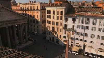 View of the Pantheon and the Piazza della Rotonda