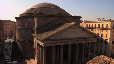 Scenic view of the dome of the Pantheon