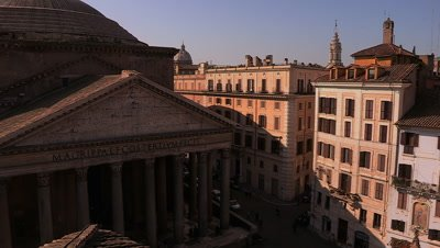 Scenic view of the Pantheon and the building surrounding the Piazza della Rotonda