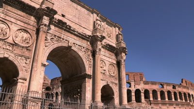 The Arch of Constantine, one of Rome's Triumphal Arches