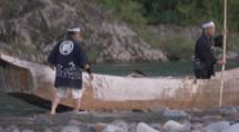 Men In Boat,Traditional Cormorant Fishing In Japan