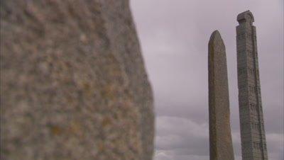 Ancient Carved Stone Stele In Axum, Ethiopia