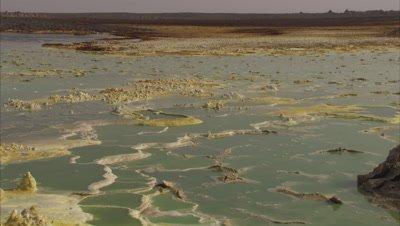 Danakil Depression Sulphur Mineral Salt Pool, Structures