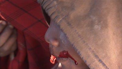 Masaai People Drinking Blood