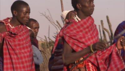 Masaai People Doing Preparations