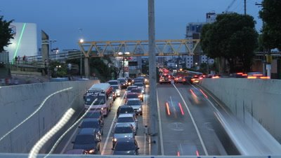 Time Lapse, Overlook Traffic at Dusk
