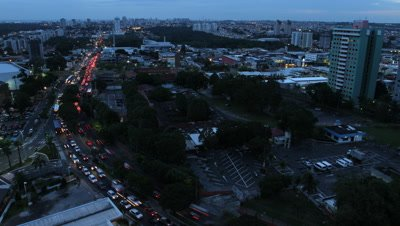 Time Lapse, Overlook City and Traffic Day to Night