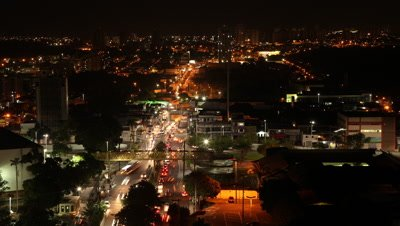 Time Lapse, Overlook City and Traffic At Night