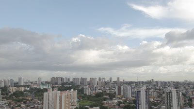 Time Lapse, Clouds Move Above City of Manaus