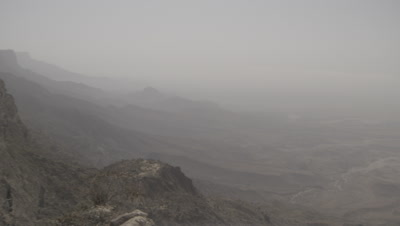Panoramic View Of Samhan Mountain and Wadi