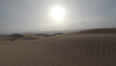 POV Travel Low Over Sand Dunes