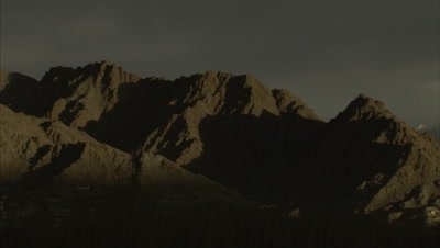 Time Lapse,Shadow Moves Across Barren Mountains