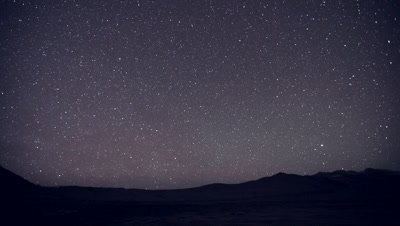 Time Lapse,Stars Move in Night Sky