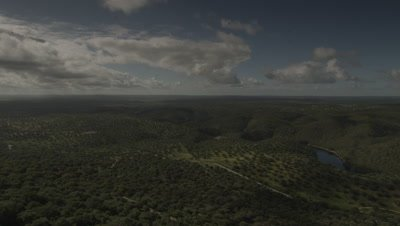 General view of Monfrague National Park landscape