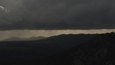 Time lapse of clouds moving in the sky of Monfrague National Park