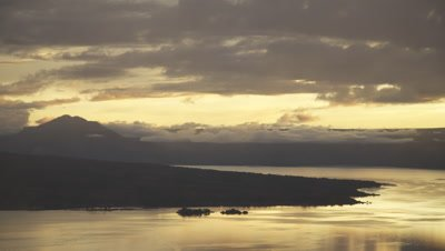 Time lapse of clouds moving over Lake Toba