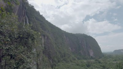 Scenic view of the steep, forested canyon of Harau Valley, home of the Siamangs