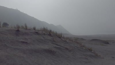 Scenic view of the Sand Sea near Mount Bromo in the Tengger Caldera