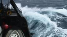 POV Storms At Sea Stock Footage