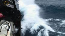 Ship Farley Mowat In Big Stormy Seas