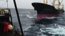 Japanese Whaling Ship Oriental Bluebird, Sea Shepherd