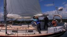 Putting In A Reef Before A Windy Race