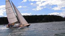 Sailing Fast By Camera Up Soames Sound Fjord