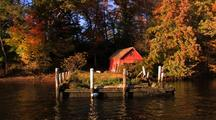 Barn And Old Dock On Ct River